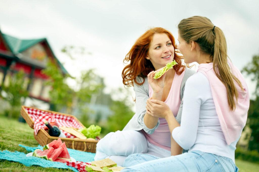 Lesbijki na pikniku