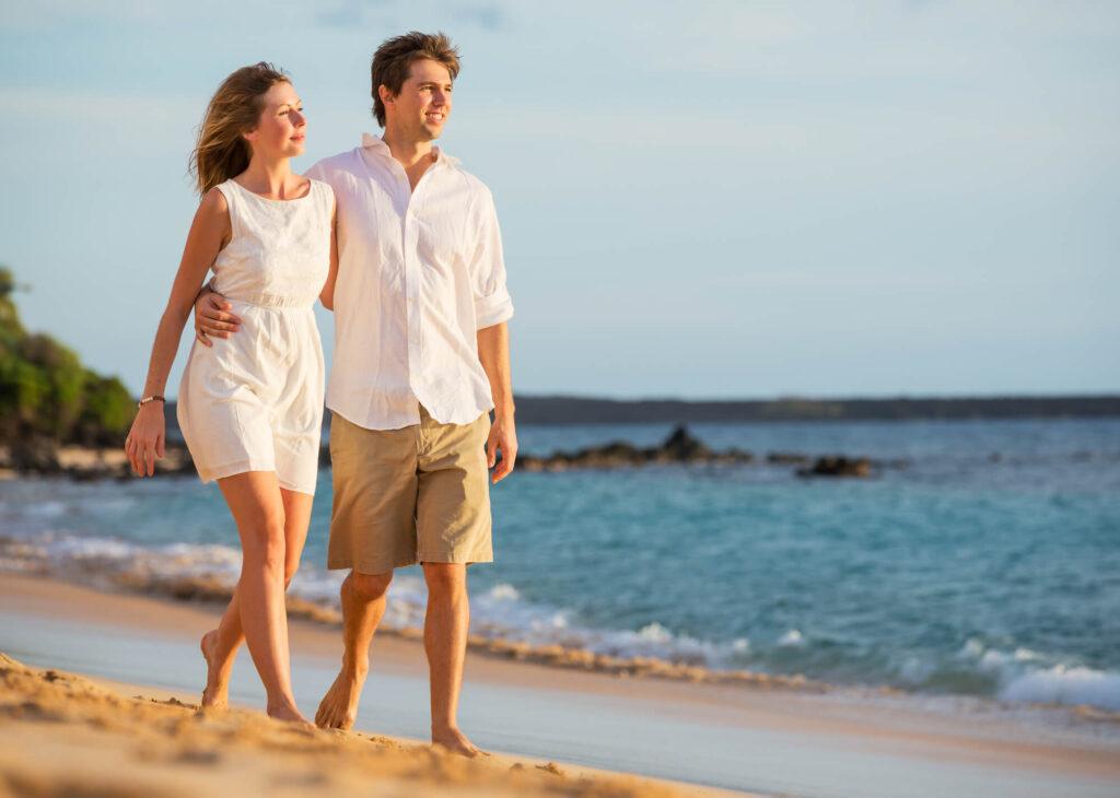 para na randce na plaży
