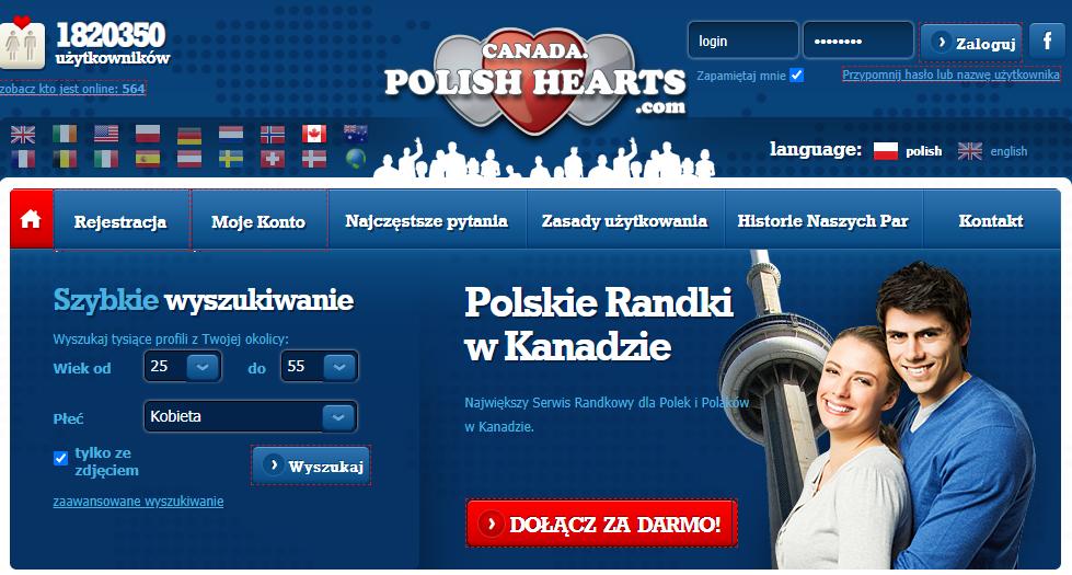 canada.polishhearts.com Serwis randkowe Polaków w Kanadzie