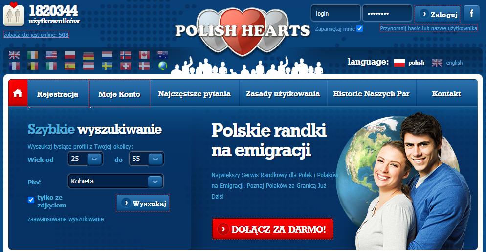 polishhearts.com serwis randkowe w USA