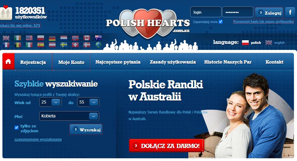 polishhearts.com.au serwis randkowe w Australii