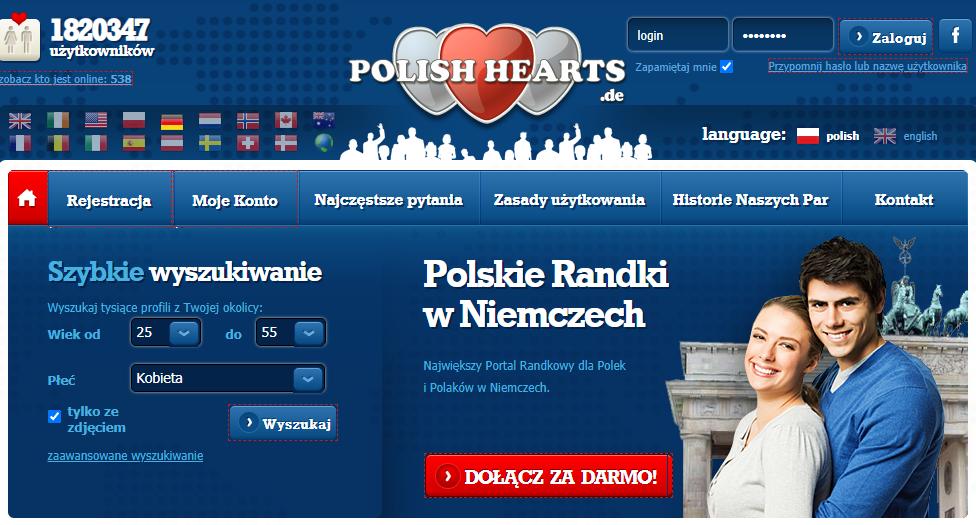 polishhearts.de serwis randkowe w Niemczech
