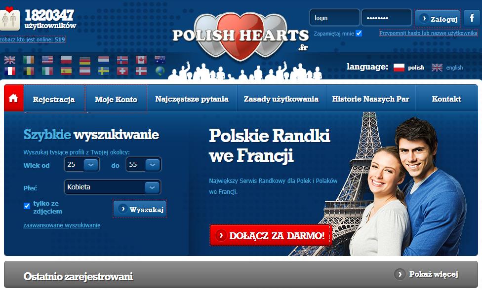 polishhearts.fr serwis randkowe we Francji